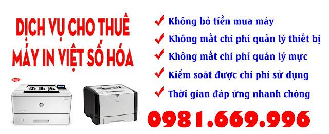 CHo thue may in tai Hai phong