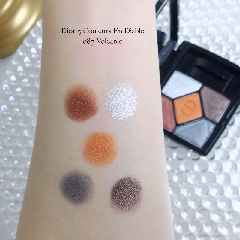 Dior 5 Couleurs en Diable 087 Volcanic swatches