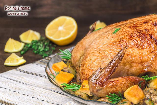 Курица в духовке целиком: рецепт с хрустящей корочкой