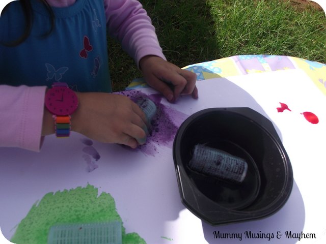Sensory toddler painting