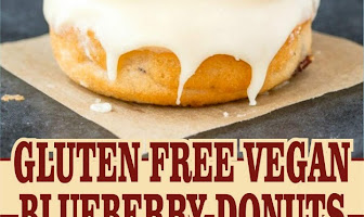 GLUTEN FREE VEGAN BLUEBERRY DONUTS