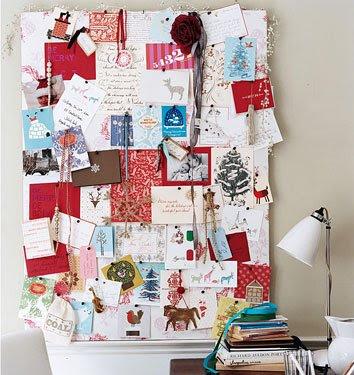 Never listless holiday card display ideas - Christmas card display ideas ...