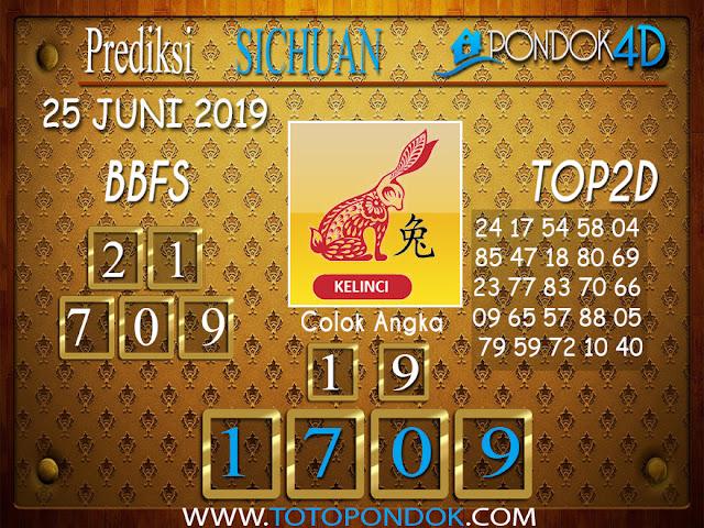 Prediksi Togel SICHUAN PONDOK4D 25 JUNI 2019