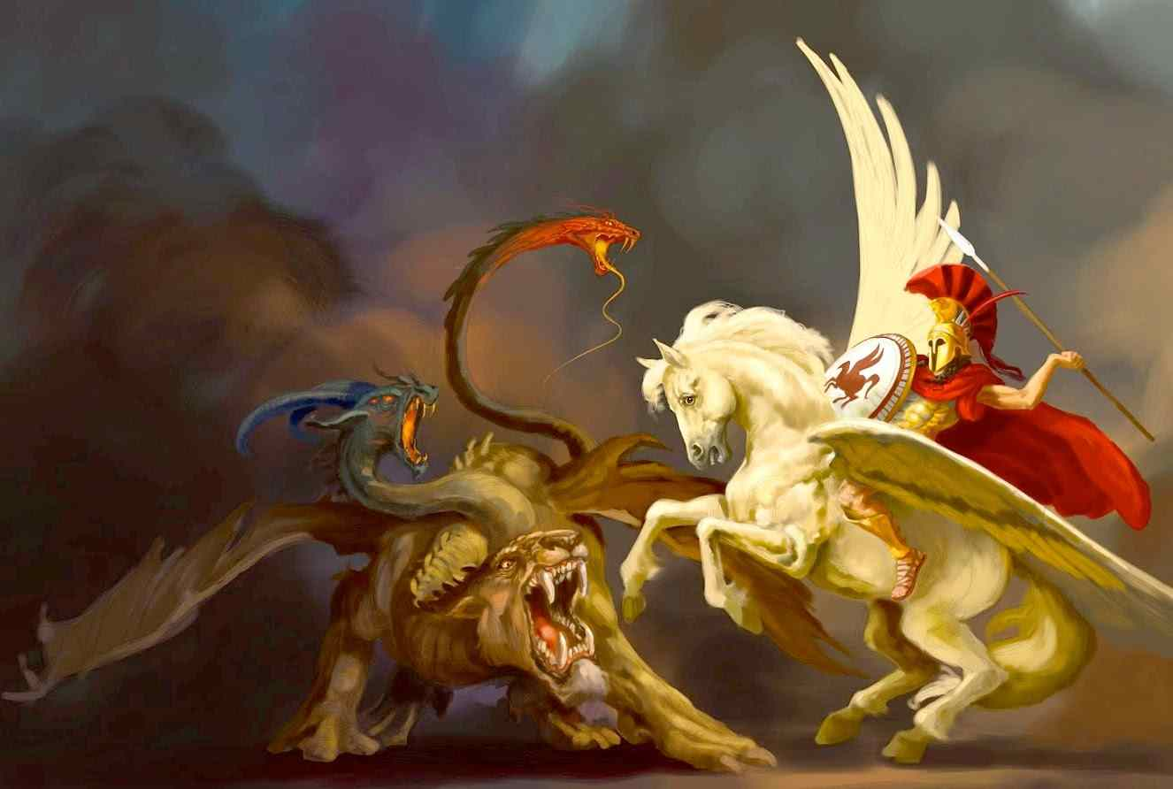 Quimera: Um Monstro Com Cabeça de Leão Que Cuspia Fogo