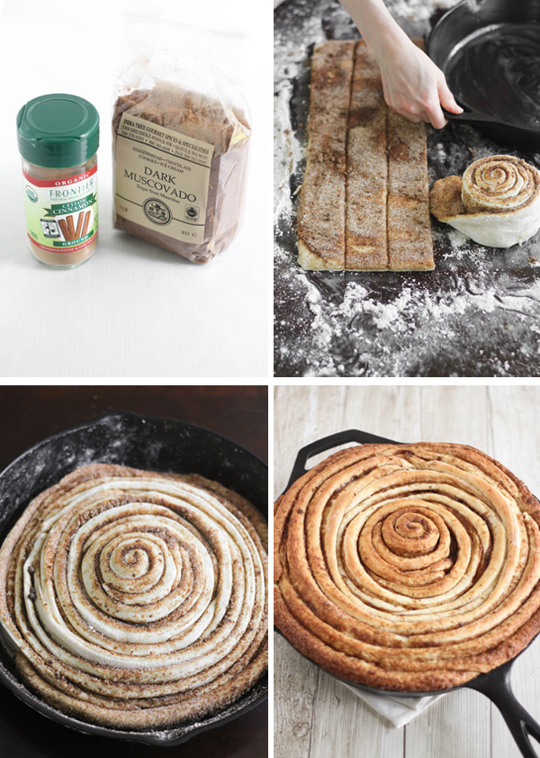 Giant Skillet Cinnamon Roll