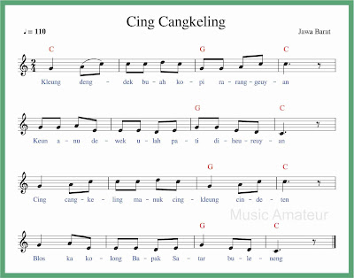 not balok lagu cing cangkeling