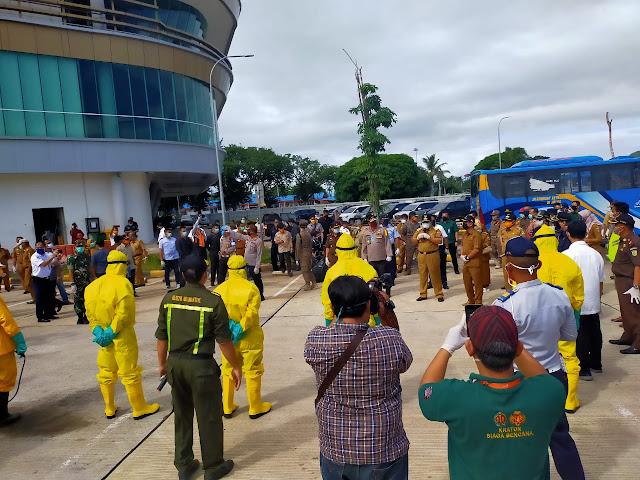 Tinjau Pelabuhan Bakauheni dan Panjang, Gubernur Pastikan Penanganan Covid-19 di Lampung Berjalan Baik