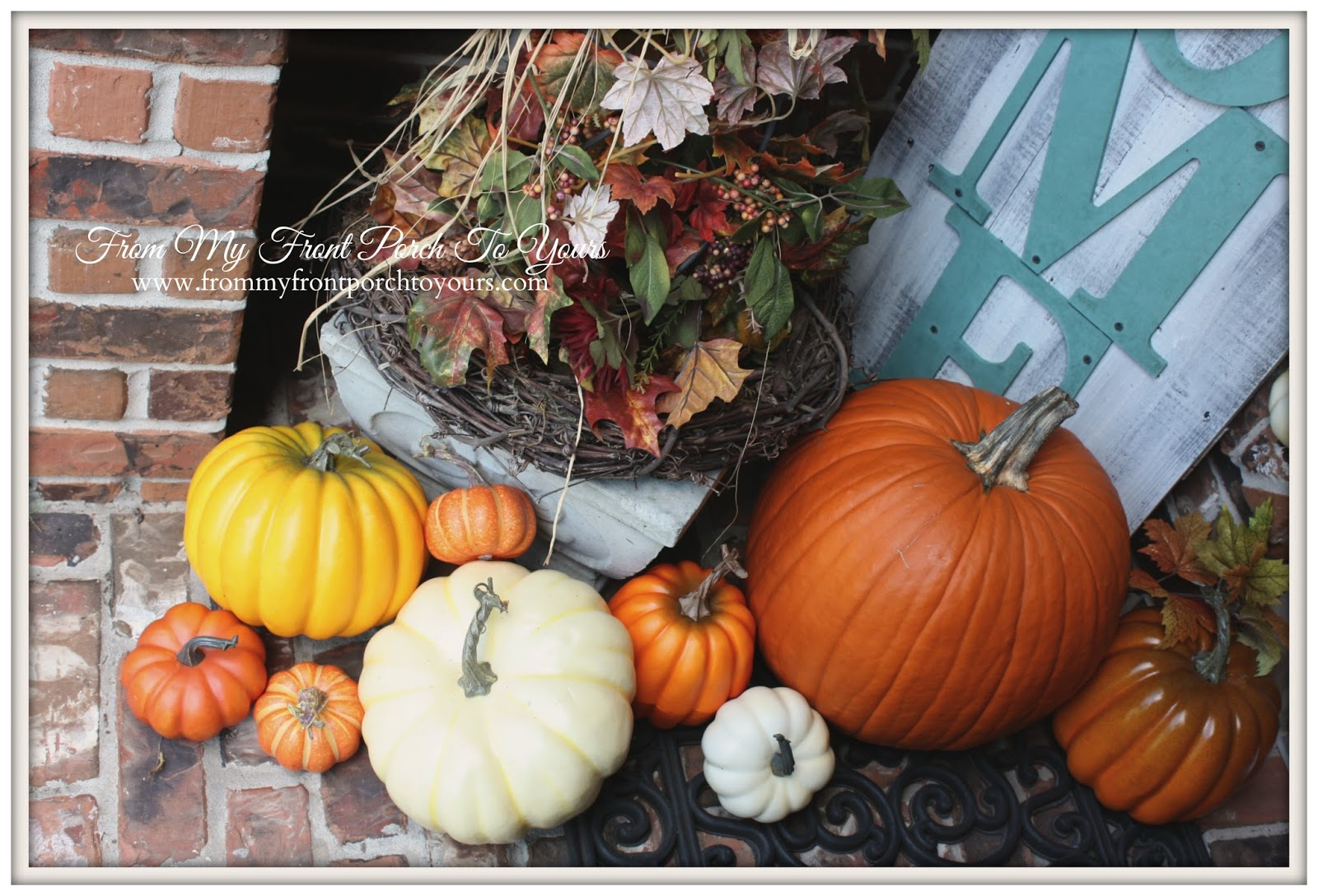 From My Front Porch To Yours- Falling For Fall Porch Party- Pumpkins