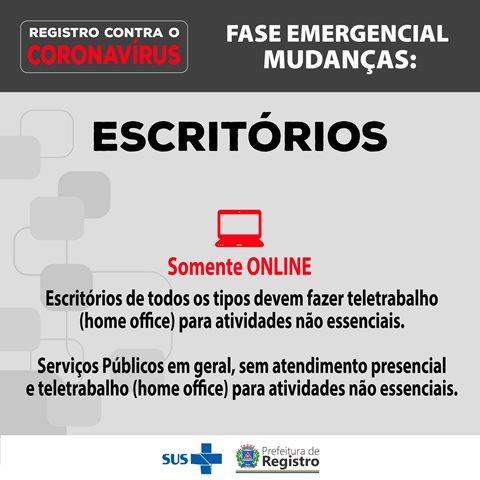 Confira as principais mudanças na fase emergencial em Registro-SP