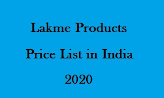 Lakme Products Price List 2020