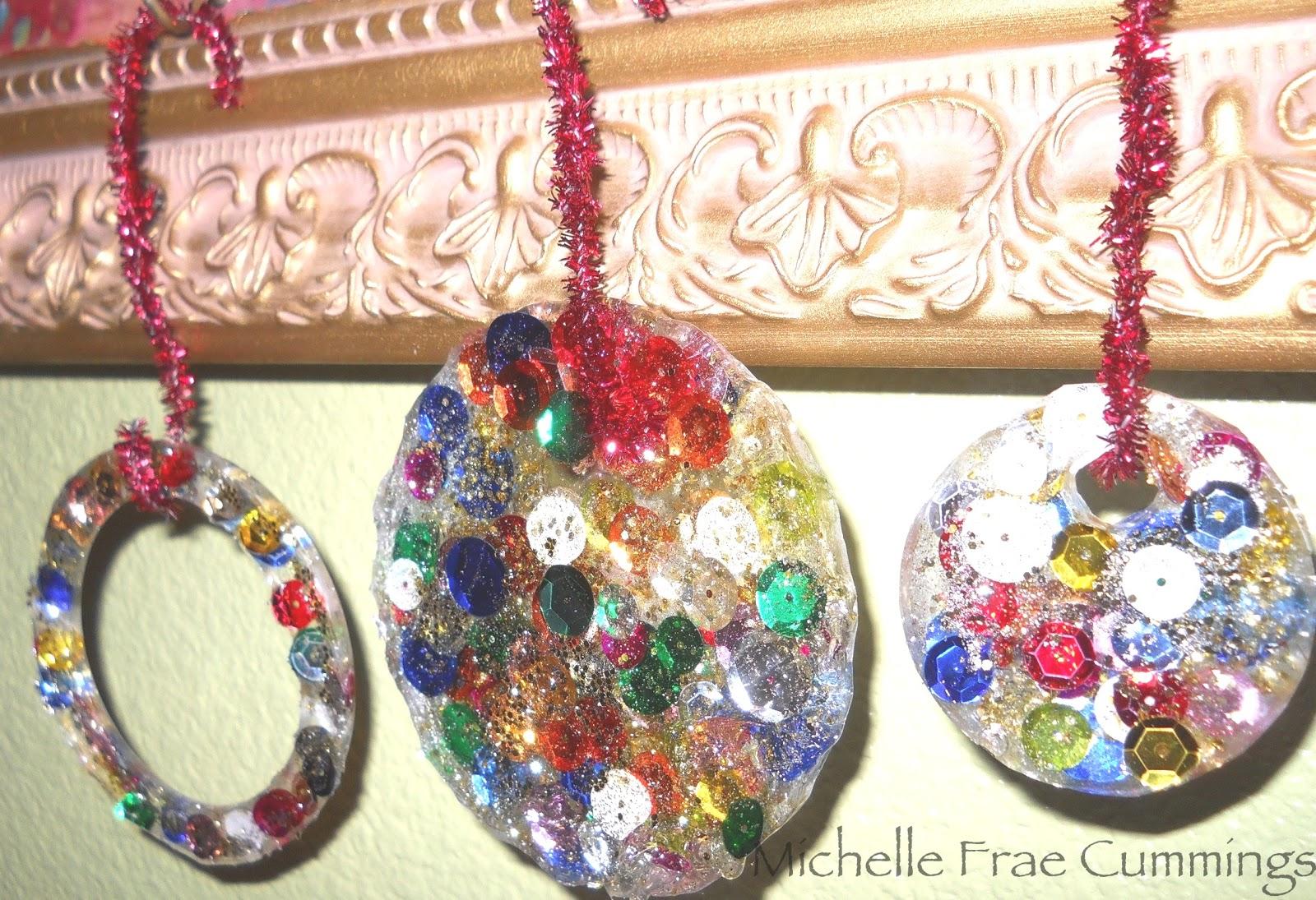 Resin Christmas Ornaments.Faerie Dust Dreams Resin Christmas Ornaments