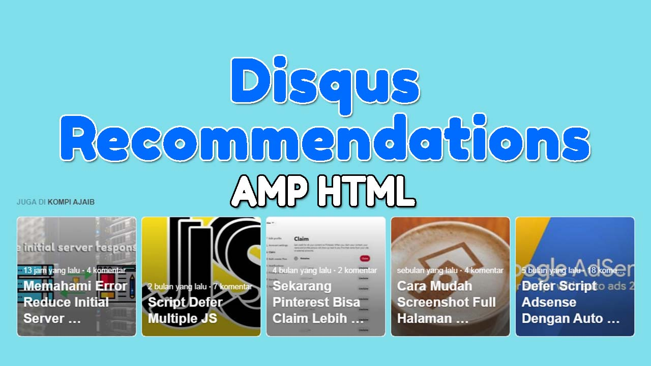 Memasang Disqus Recommendations Pada Blog AMP HTML
