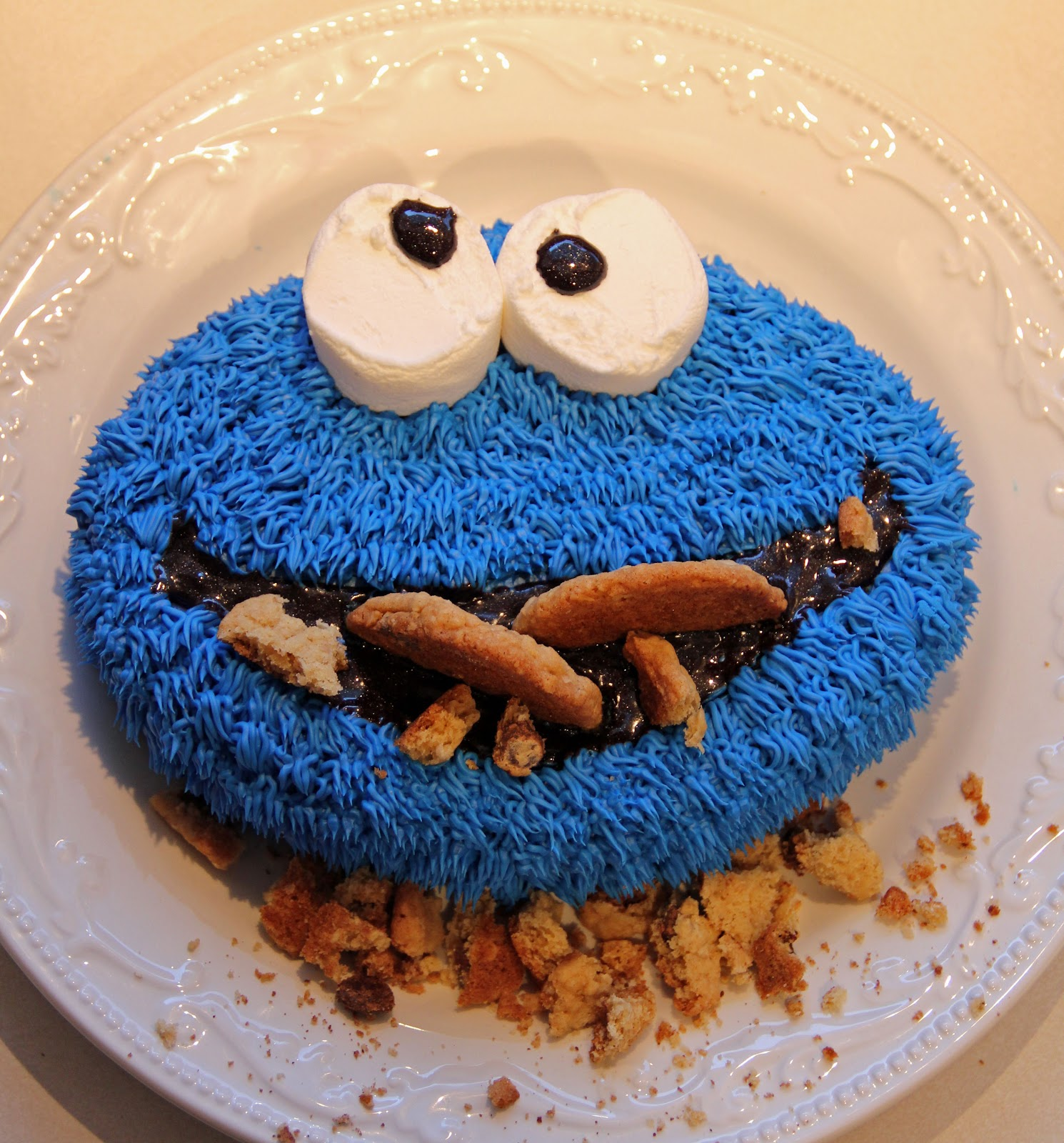 Jo And Sue Cookie Monster Cake