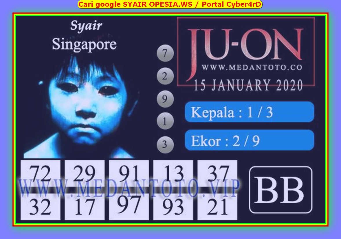 Kode syair Singapore Rabu 15 Januari 2020 155