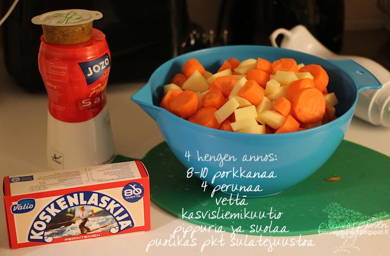 porkkanasosekeitto-ohje