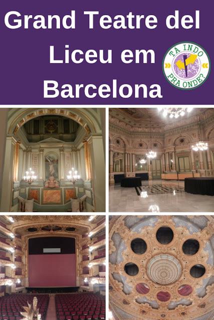 Grand Teatre del Liceu em Barcelona