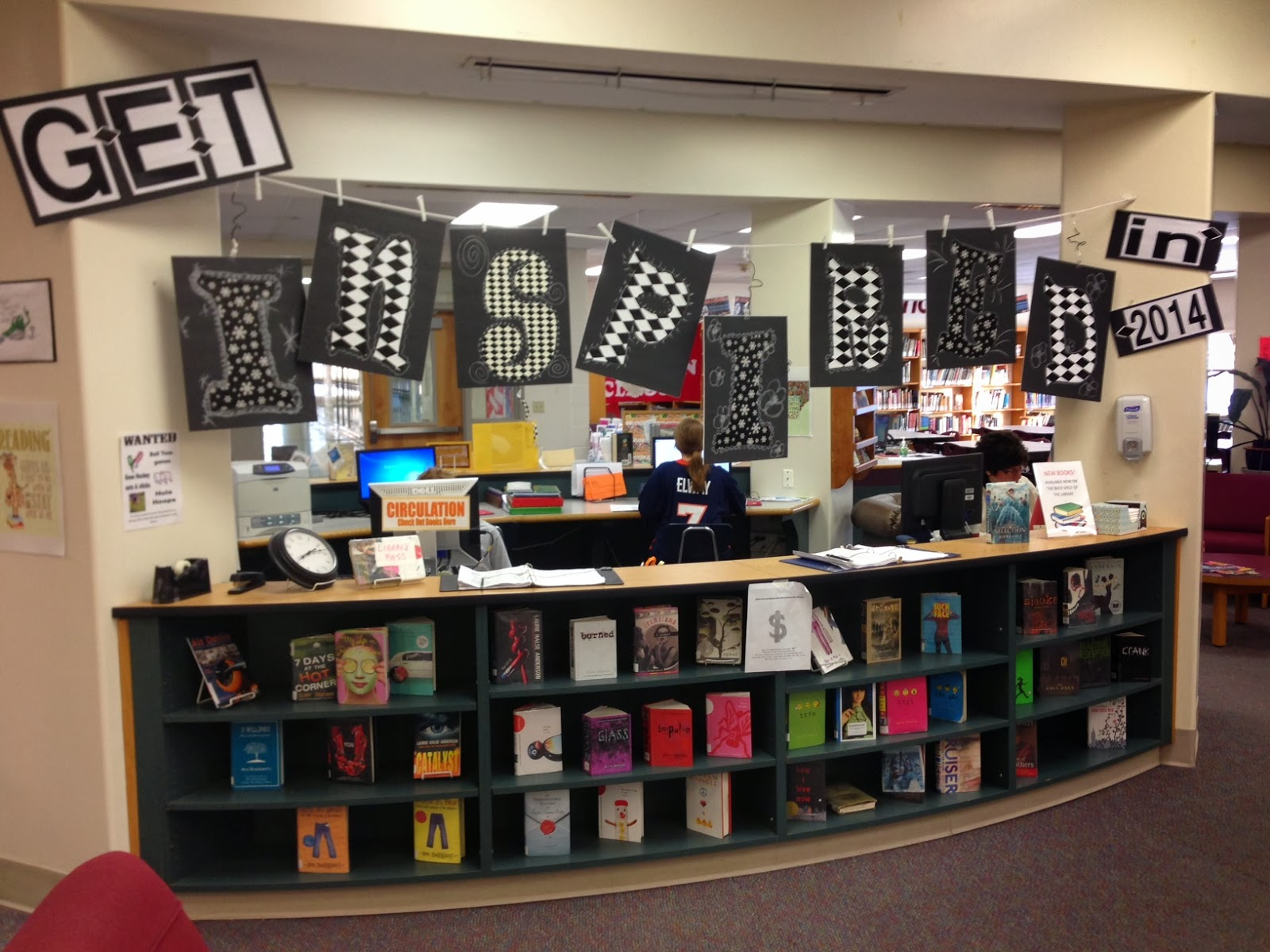 No Shhing Here: January Bulletin Boards & Book Displays