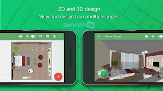 Planner 5D Mod Apk v1.23.14 (Premium, Unlocked All Items) 2D dan 3D