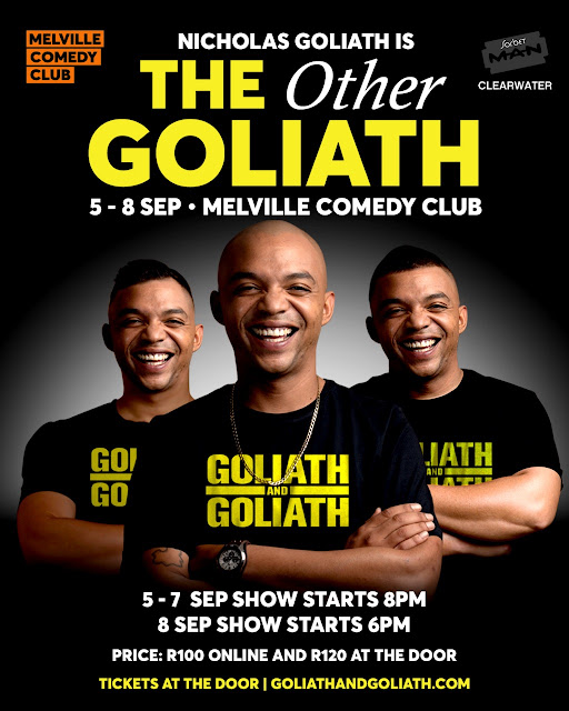 @NicholasGoliath Debuts First One-Man Show #TheOtherGoliath 5-8 Sep 2019 #Melville