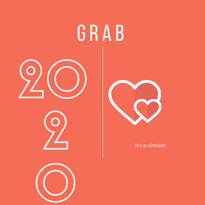 Grab, word for 2020 - Canva creation