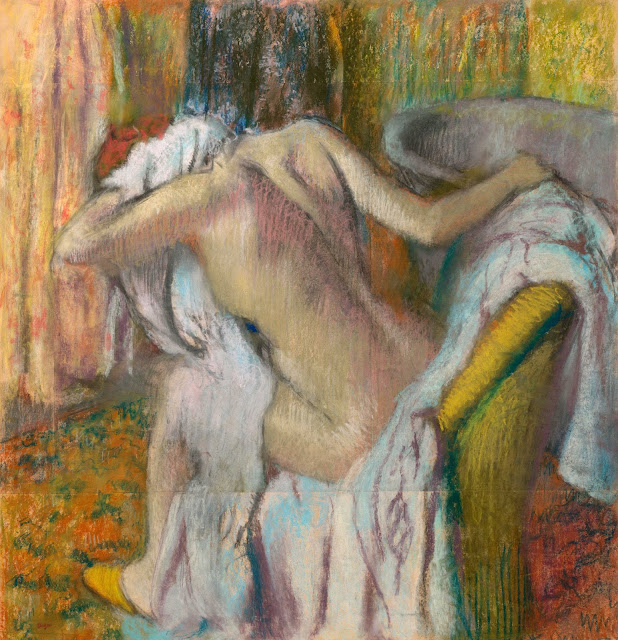 Эдгар Дега - После купания (1890-1895)