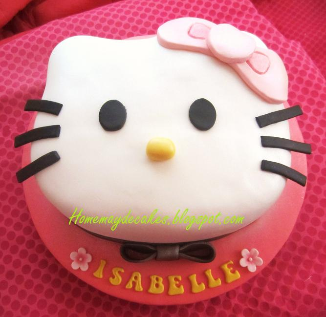 The Making Hello Kitty Cake