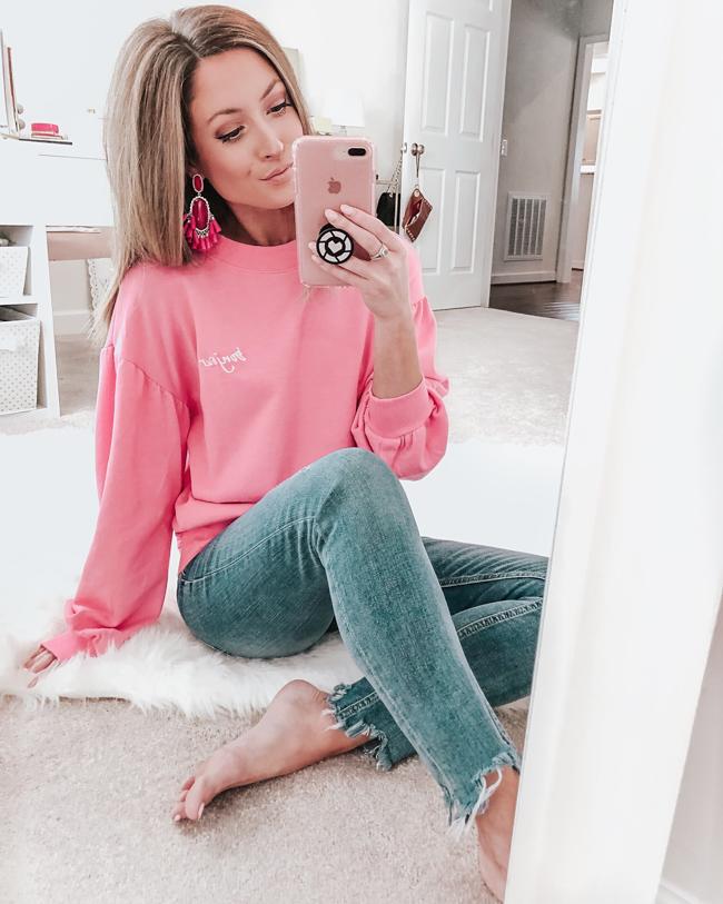 target sweatshirt pink bonjour