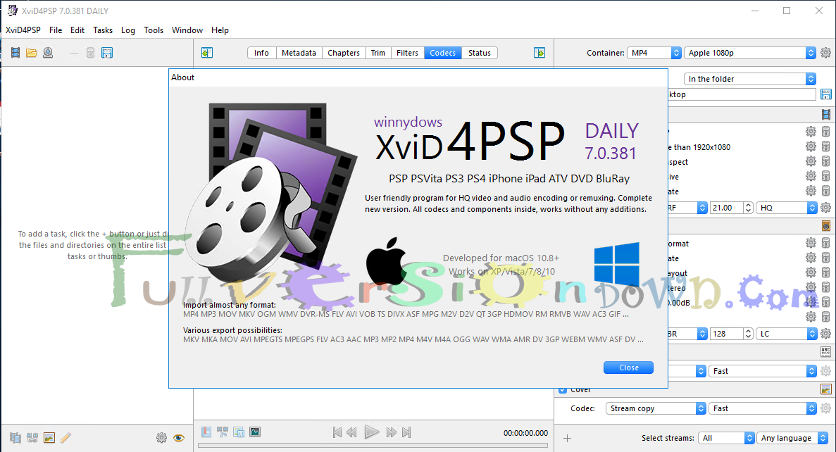 XviD4PSP 7.0.381 Full Version