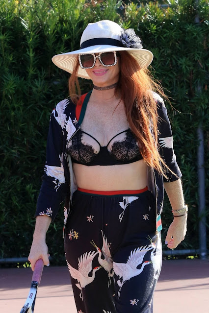 Phoebe Price – Seen at tenis court in Los Angeles