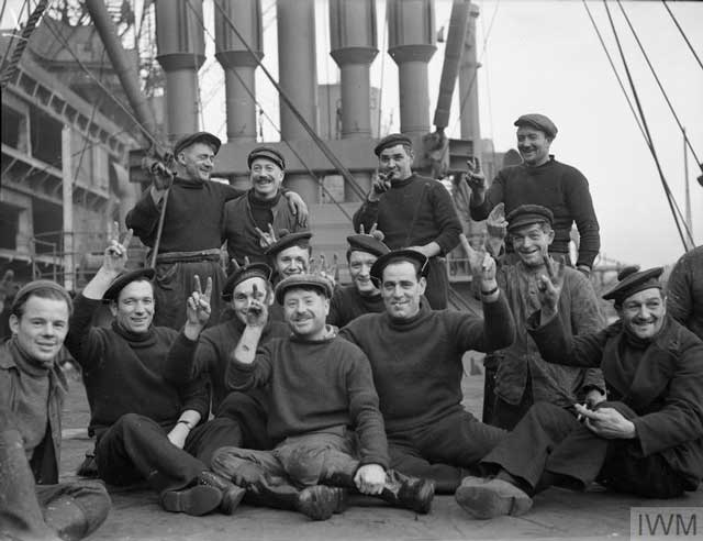 Sailors aboard FFS Indo Chinois, 7 January 1942 worldwartwo.filminspector.com