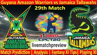 Guyana Amazon Warriors vs Jamaica Tallawahs