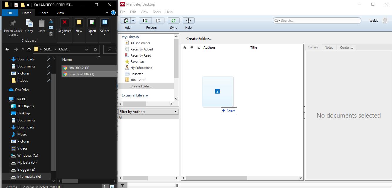 Cara import file pdf ke Mendeley