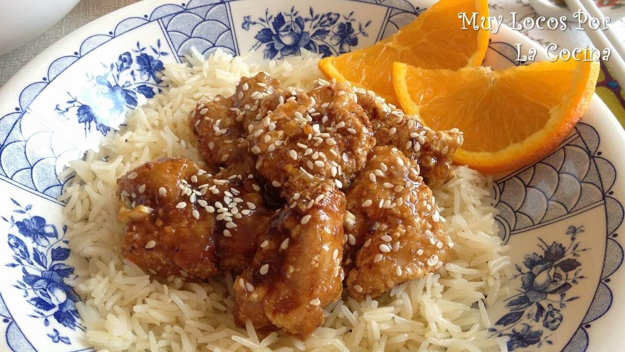 Pollo a la Naranja al Estilo Chino