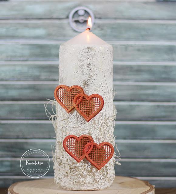 Walentynkowa świeca