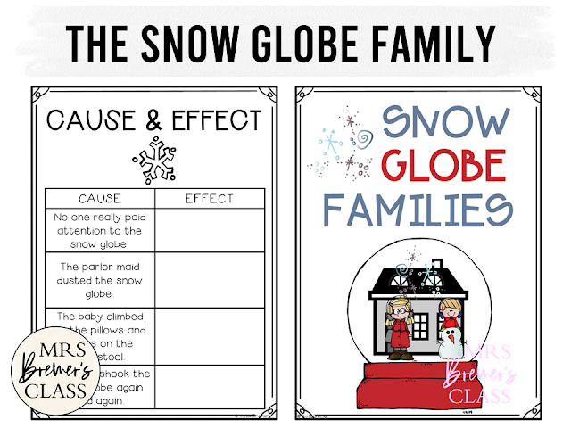 The Snow Globe Family book study companion activities with class book and craftivity. Perfect for winter in K-1