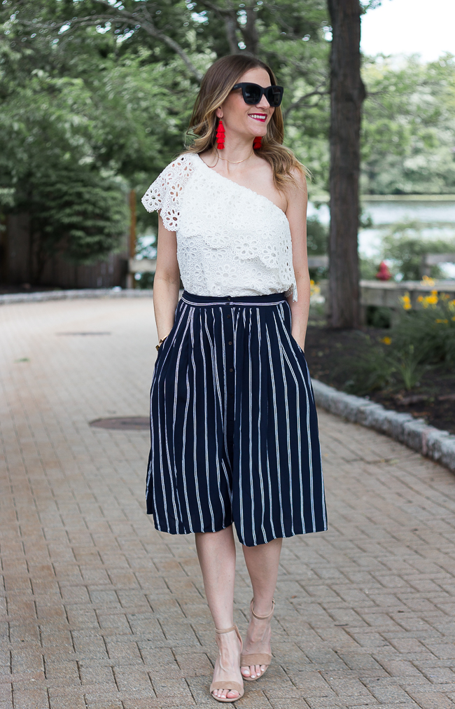 Stripe Midi Skirt #midiskirt