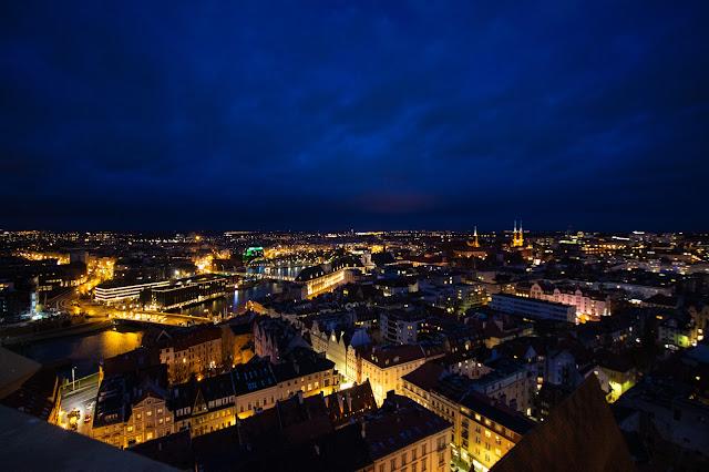Panorama dal campanile della chiesa di Santa Elisabetta-Breslavia