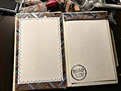 January 26, 2018 Working on a new altered book junk journal.