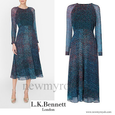Kate Middleton wore LK Bennett Addison Printed Silk Dress
