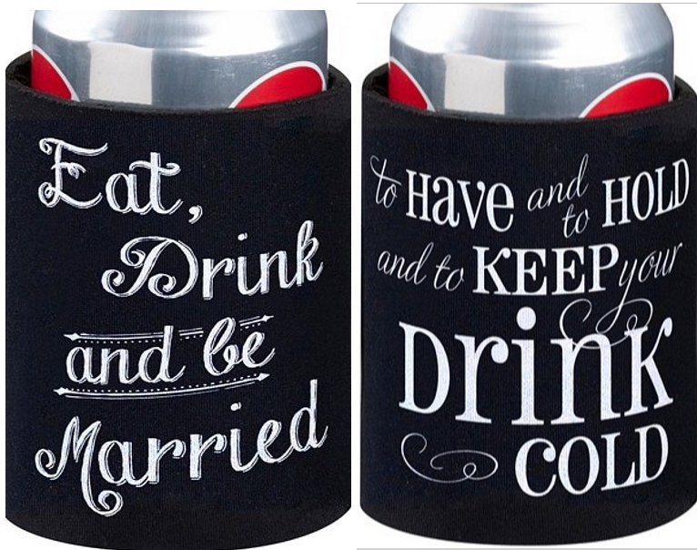 Personalized Wedding Favor Can Koozie