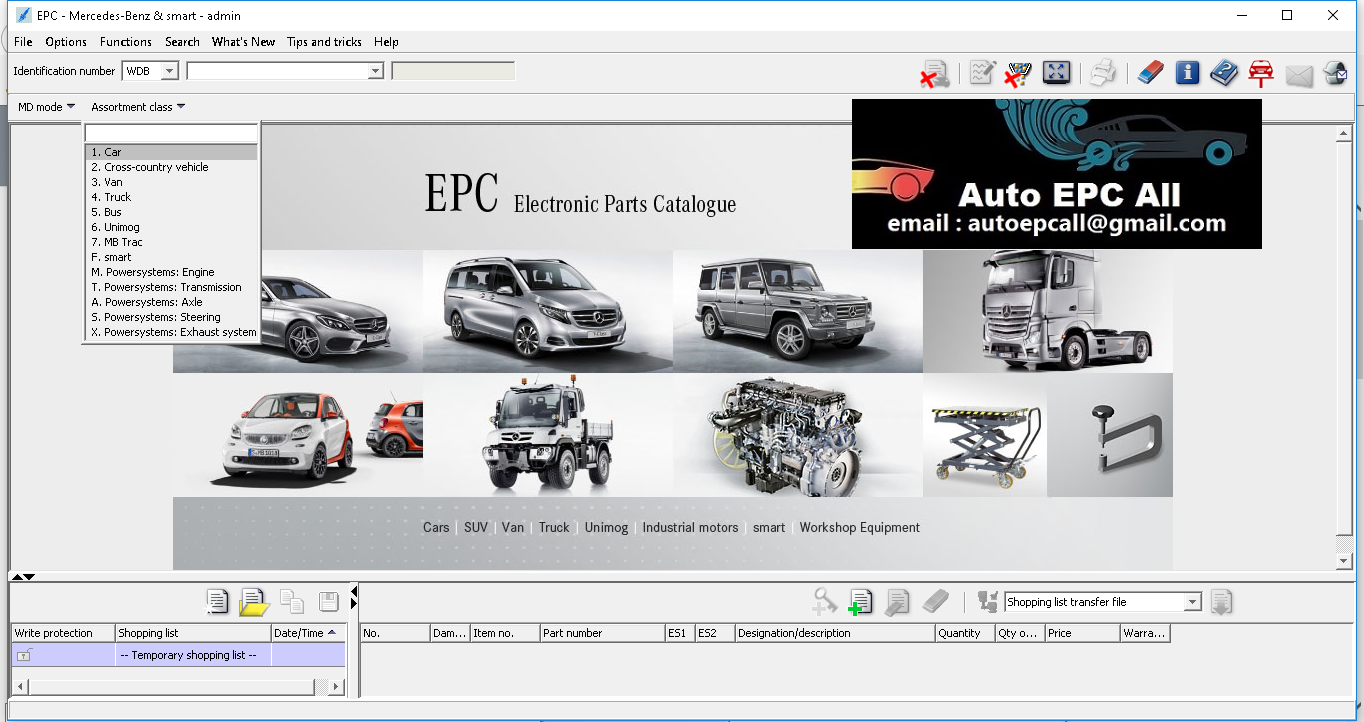 Mercedes EPC EWA Parts Catalog 2019 - Auto EPC All
