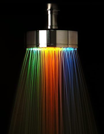 O azulejista duchas com led for Led para ducha