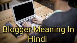Blogger meaning in hindi