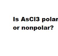 Is AsCl3 polar or nonpolar?