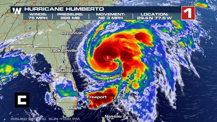 'Humberto' se convierte en huracán categoría 1
