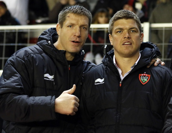 Bakkies Botha and Juan Smith of Toulon pose for photograph in club jackets