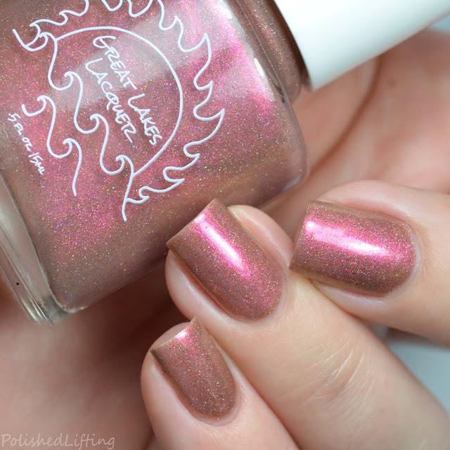neutral to magenta multichrome nail polish