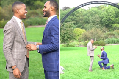 Nigeria Gay man proposes to his boyfriend of 6 years see (Photos/Video)