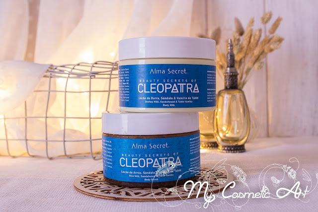 Mi experiencia con el exfoliante y la hidratante corporales de la gama Cleopatra de Alma Secret