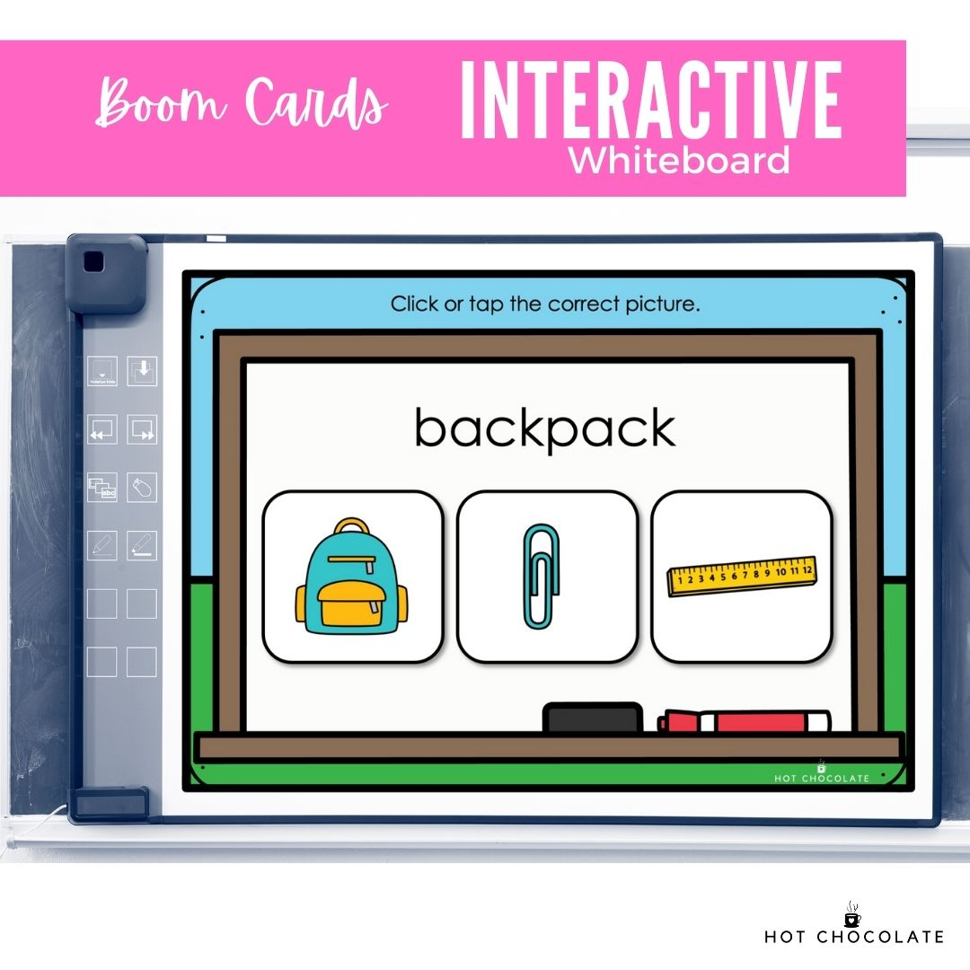 Using Boom Cards in-class on an interactive whiteboard